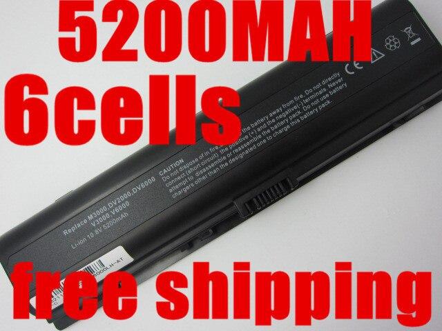 5200 мАч Аккумулятор Для ноутбука HP Pavilion DV2000 DV2700 DV6000 DV6700 DV6000Z DV6100 DV6300 DV6200 DV6400 DV6500 DV6600 HSTNN-LB42