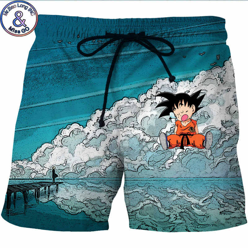 c3ee53ea3f7c2 Men's Hipster Summer Quick Dry Beach Board Boxer Shorts Trunks 2018 3D  Dragon Ball Z Kid