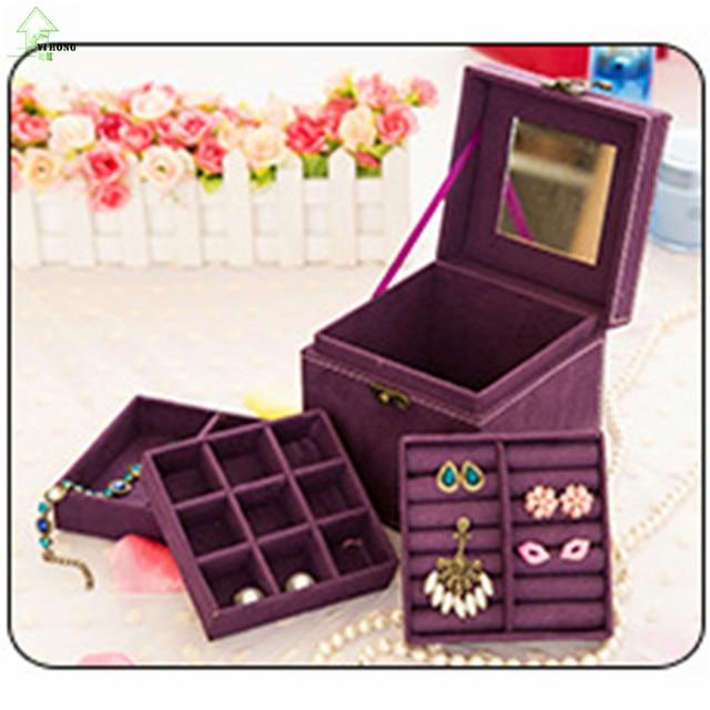 Aliexpresscom Buy YIHONG Jewelry Box Necklace rings earrings