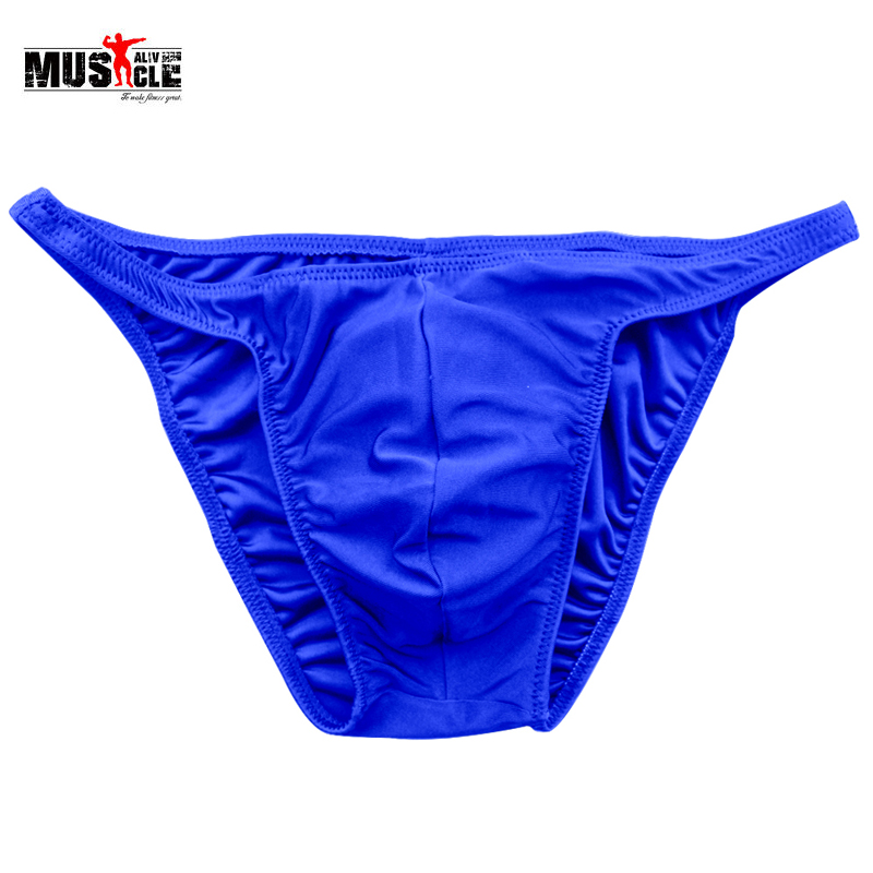 MUSCLE ALIVE Men Bodybuilding Sexy Cloth Fitness Posing Trunk Nylon Spandex Casual   Shorts   Workout For Man Male Sportswear MTP02