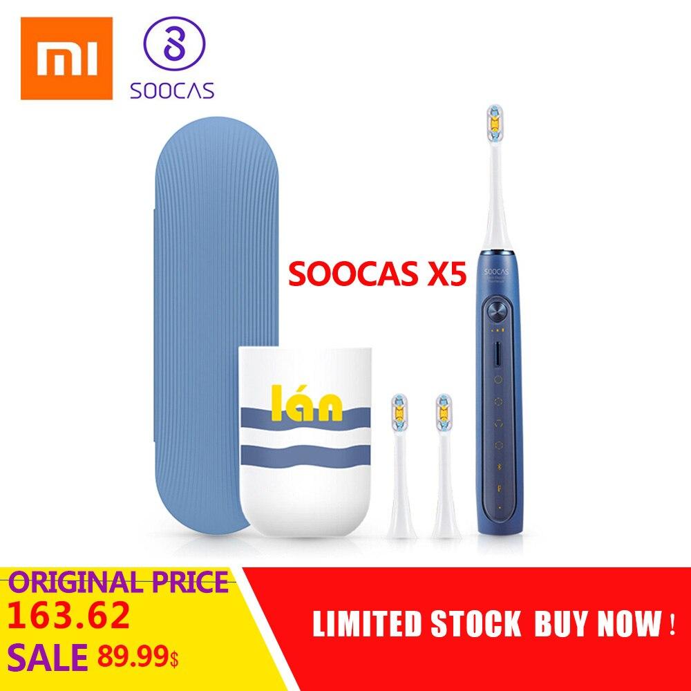 Xiaomi SOOCAS X5 USB Rechargeable sans fil charge brosse à dents électrique sonique de Xiaomi Youpin mis à niveau brosse à dents Ultra sonique