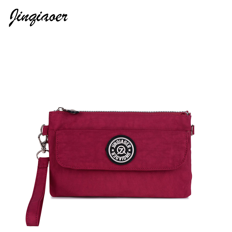 Women Messenger Bags Waterproof Nylon Day Clutch Purse Casual Small Shoulder Bag For Girls Female Tote Wallet JQ082/q women messenger bags leather clutch purse casual small shoulder bag for girl female tote handbags wristlet bolsa tote hand bag