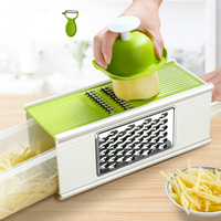 Potato Cutters Fruit Apple Slicer Onion Vegetable Cutter with Storage Box Salad Cutter Bowl Kitchen Gadgets and Accessories Aid