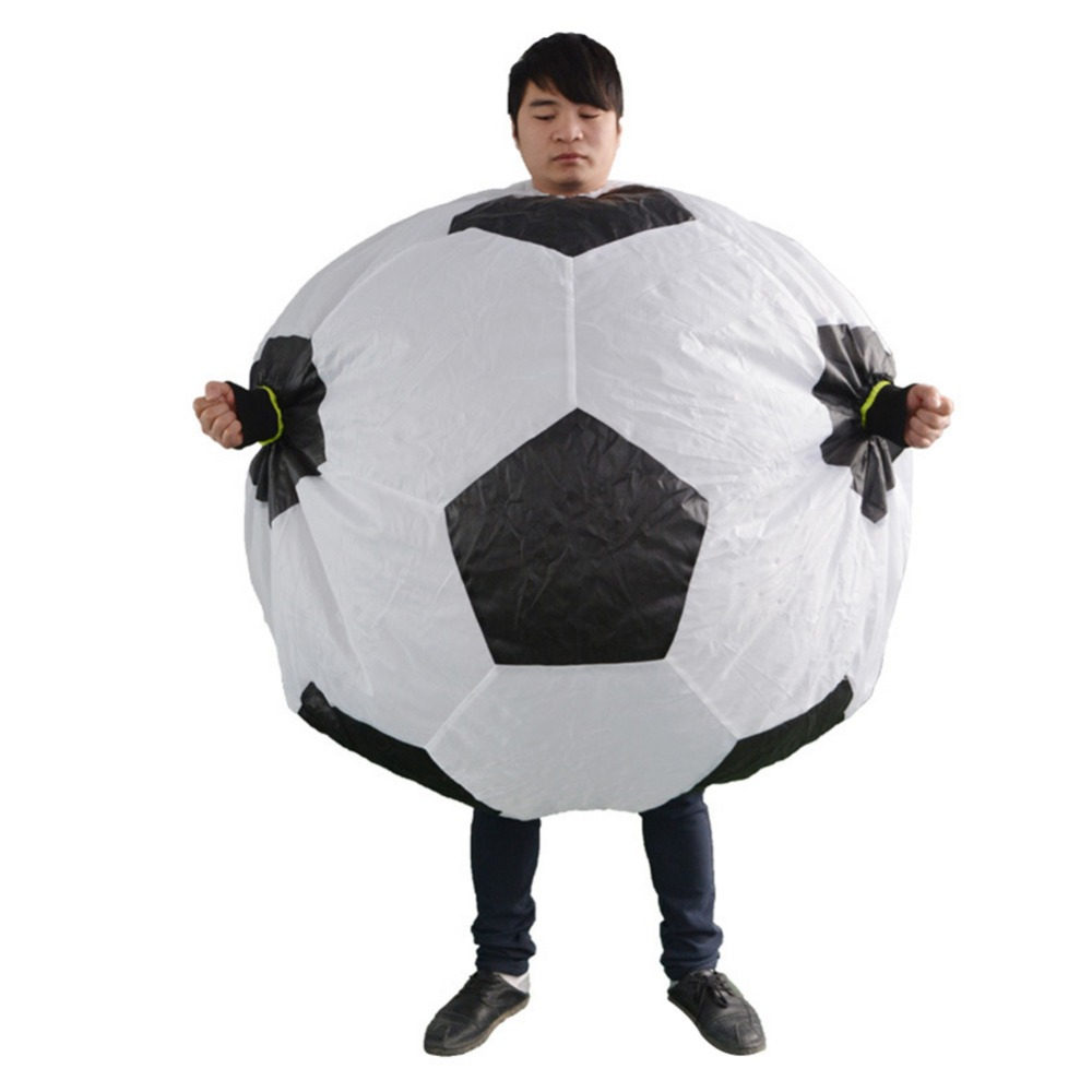 Inflatable Football Costumes for Adults Party Halloween Blow Up Fancy Dress Carnival Soccer Cosplay Suits