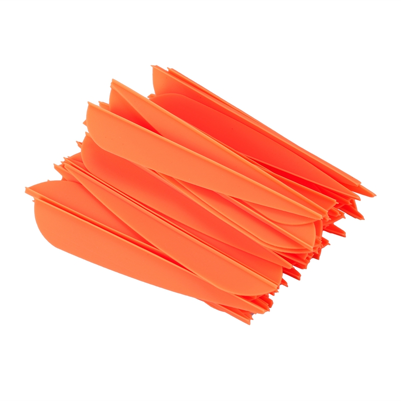 Arrows Vanes 4 Inch Plastic Feather Fletching for DIY Archery Arrows 50 Pack(Orange)