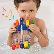 5 шт./упак., Детские Красочные Водные флейты, игрушка органайзер для хранения игрушек в ванну, игры в музыкальный душ, веселые музыкальные звуковые инструменты, водные игрушки для ванной