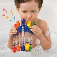 5Pcs/Pack Children Colorful Water Flutes Toy Kids Bath Tub Playing Musical Shower Fun Music Sounds Instrument Water Shower Toy