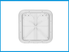 370*375mm ABS Plastic Anti Aging Ultraviolet White Deck Marine Hatch Deck Access Hatch Boat Hatches Inspection Yacht Cover RV