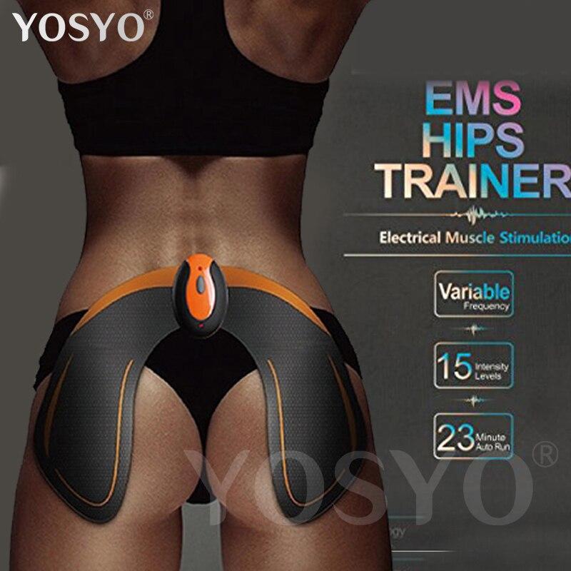 Inalámbrico ccsme Hips Trainer remoto USB recargable tóner muscular estimulador Butt tóner ayuda a levantar forma y firma la culata