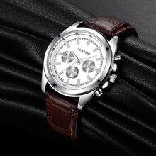 OUKESHI Venta Caliente Correa De Cuero Moda Hombre Reloj de Cuarzo Reloj de Los Hombres de Primeras Marcas de Lujo de Negocios Relojes Analógicos Relojes Casuales