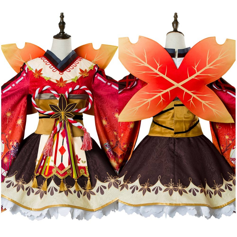 Love Live ! Hanamaru Kunikida Cospaly Costume Aqours Maple Leafs Ver Kimono Cosplay Costume Full Sets