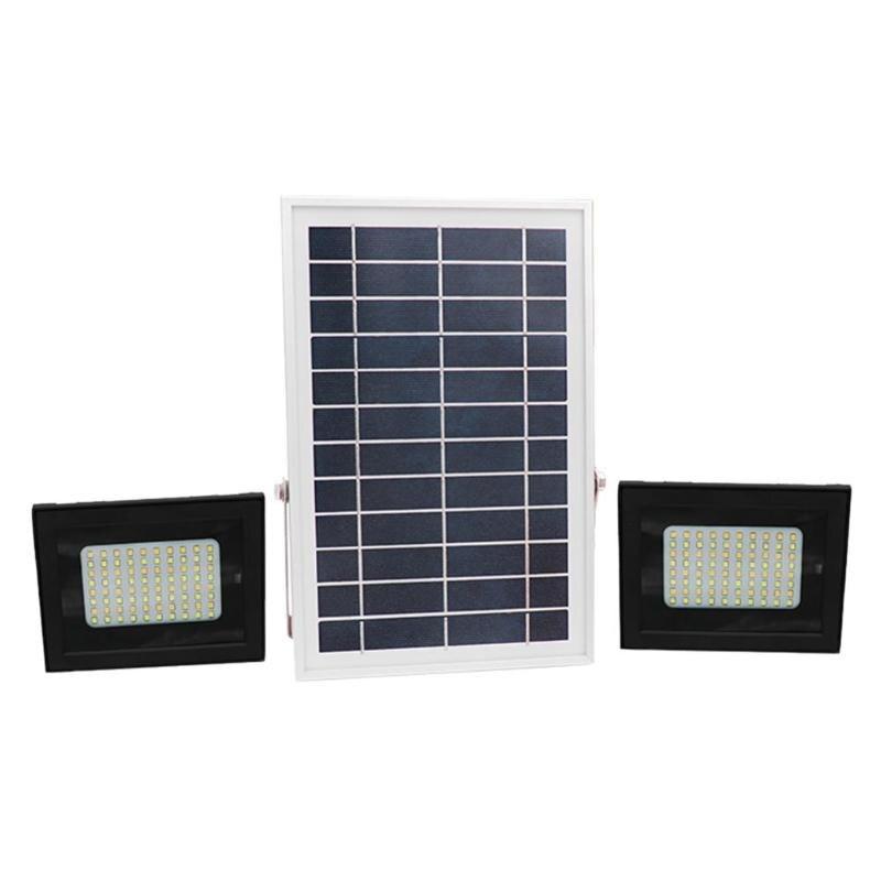 Высокое качество 160 светодио дный 2 головки RC IP65 Водонепроницаемый Солнечный свет Сенсор прожектор пятна сад открытый парк Безопасность лам...