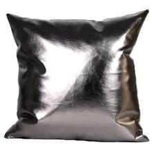 Pu cojines cojines sin interior posmoderno metálico suave cuero de LA PU sofá ropa de cama home decor cojines almofadas