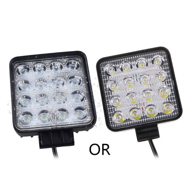 48W Vehicel Headlights 16LEDs Cool White Light Bar 4inch Vehicle Work Light LED Truck For SUV Drop Shipping Support