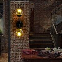 led e27 Loft Industrial Iron Glass Magic Bean LED Lamp LED Light Wall lamp Wall Light Wall Sconce For Bar Store Foyer Bedroom