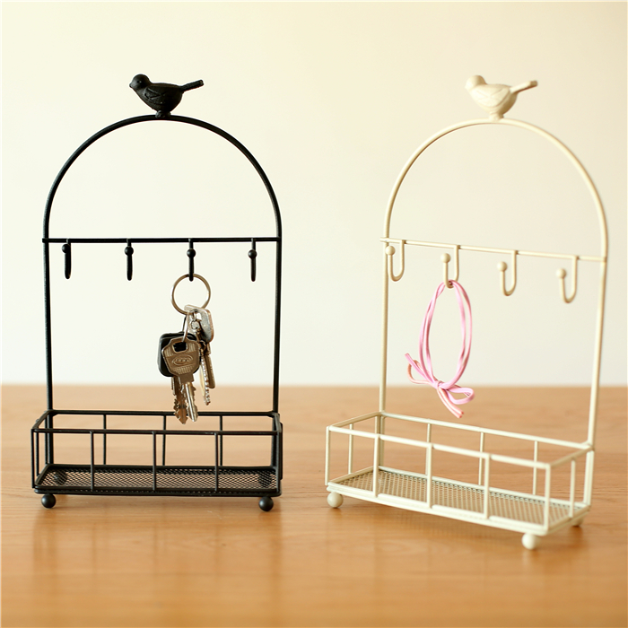 Multifunctional Birdcage Storage Holder Metal Jewelry Show Rack Metal Desktop Storage Rack Organizer Makeup Cosmetic Storage Box