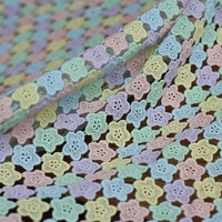 high quality Cotton embroidery Wedding Lace Fabric Dress Coat Fabric Venice Lace Hollowed Out Lace trim 49.2Inches Wide 1Yard