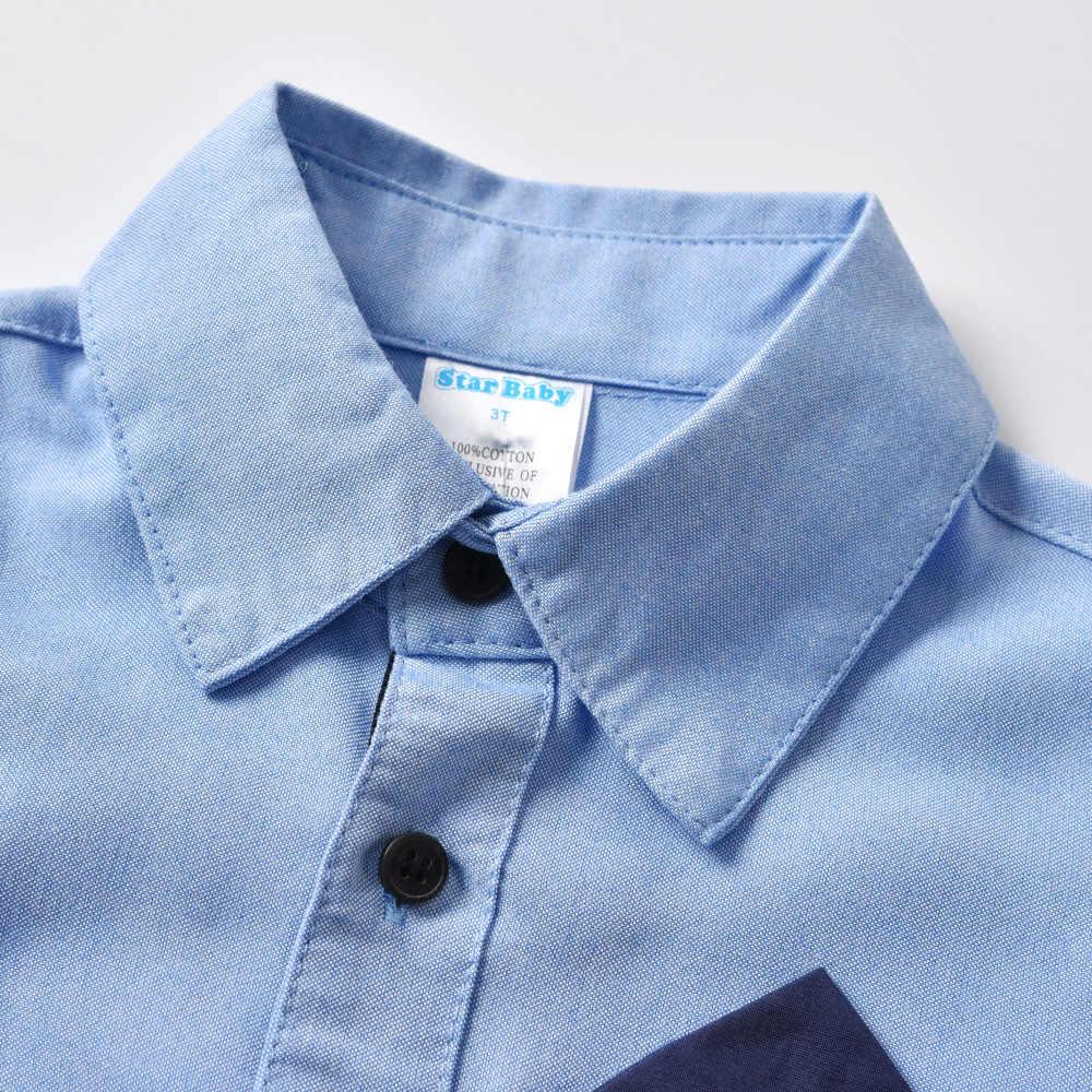 Коллекция 2019 года, одежда для мальчиков летний комплект одежды для детей, одежда для малышей Топ, рубашка + джинсы со шнуровкой, штаны, комплекты одежды DC014