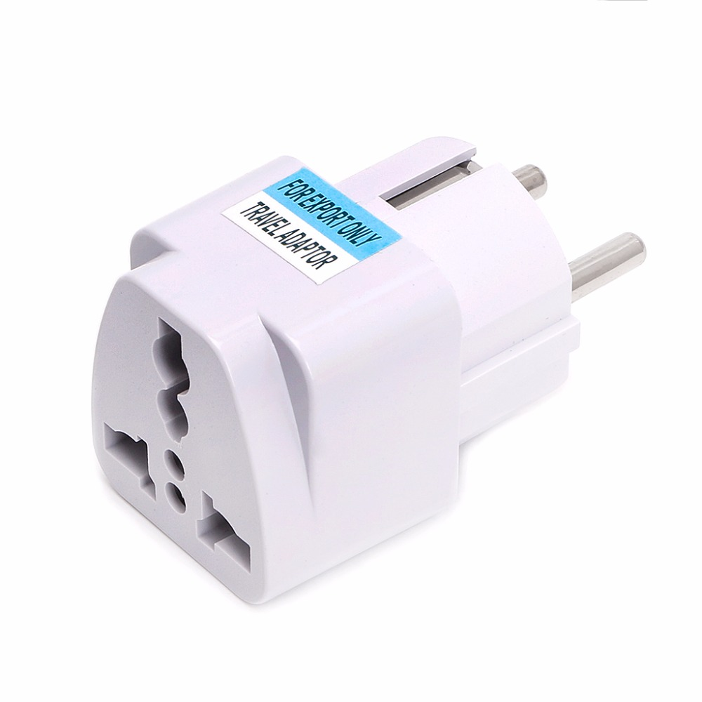 цены ANENG 1PC Universal US UK AU To EU Plug USA To Euro Europe Travel Wall AC Power Charger Outlet Adapter Converter Portable
