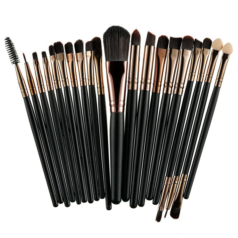 ROSALIND 20Pcs Sets 2017 New Eye Shadow Foundation Eyebrow Lip Brush Makeup Brushes Tool