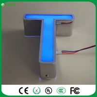 Mounted On The Wall Outdoor Custom Steel Channel Sign 3D Led Advertising Light Channel Letter For