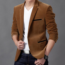 New Arrival Luxury Fashion Brand High Quality Cotton Slim Fit Men Blazer