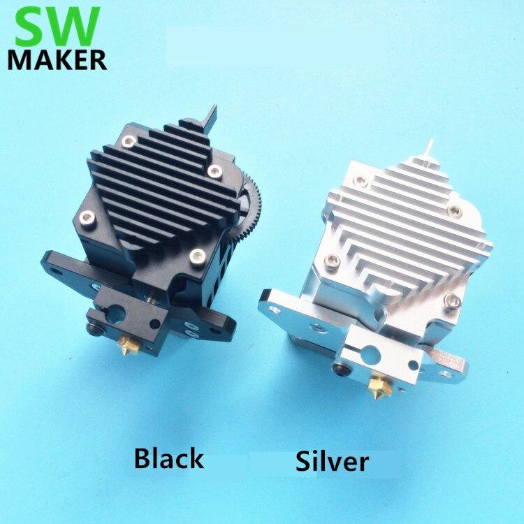 All metal Prusa i3 Titan Aero extruder with motor + E3D Titan Aero Heat sink + V6 hotend j-head for MK2 3D printer machine