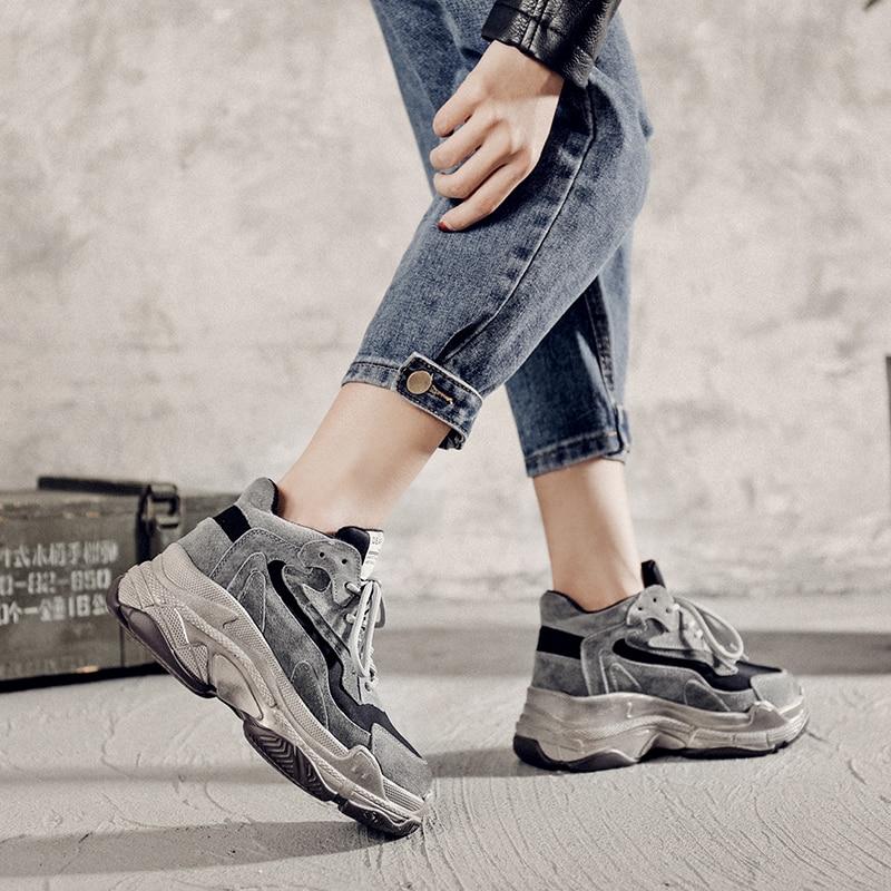 Dames À blanc En Cm Croissante Sneakers Femme Doublure Peluche Chaussures Hiver Gris Semelles Suede Pour Femmes Hauteur Compensées Chunky 6 Court 5 08wXknOP