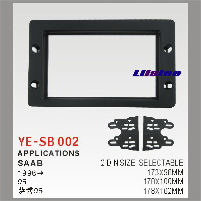 Liislee 2 DIN Car Refitting Frame Panel For Saab 95 1998 Radio Stereo CD DVD Player NAVI Navigation / Dashboard ABS Fascia Kits 2 din car refitting frame panel for jaguar s