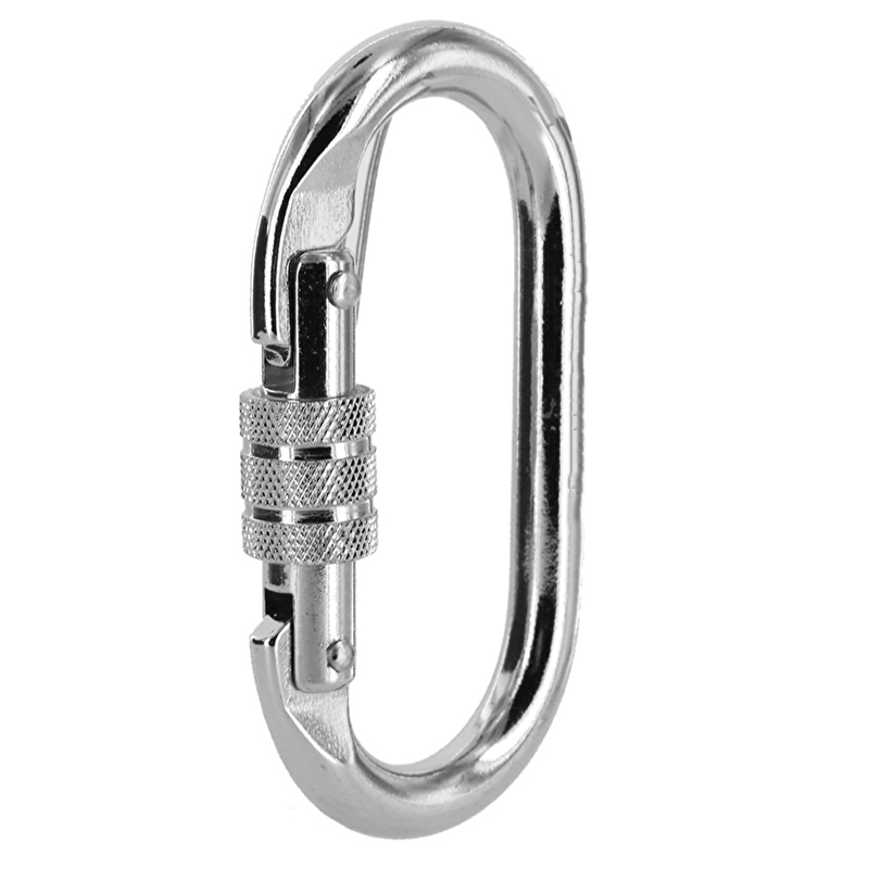 Carbon Steel Climbing Carabiner Screw Lock Hiking Rope Hook Clip 22KN Or 2200kg
