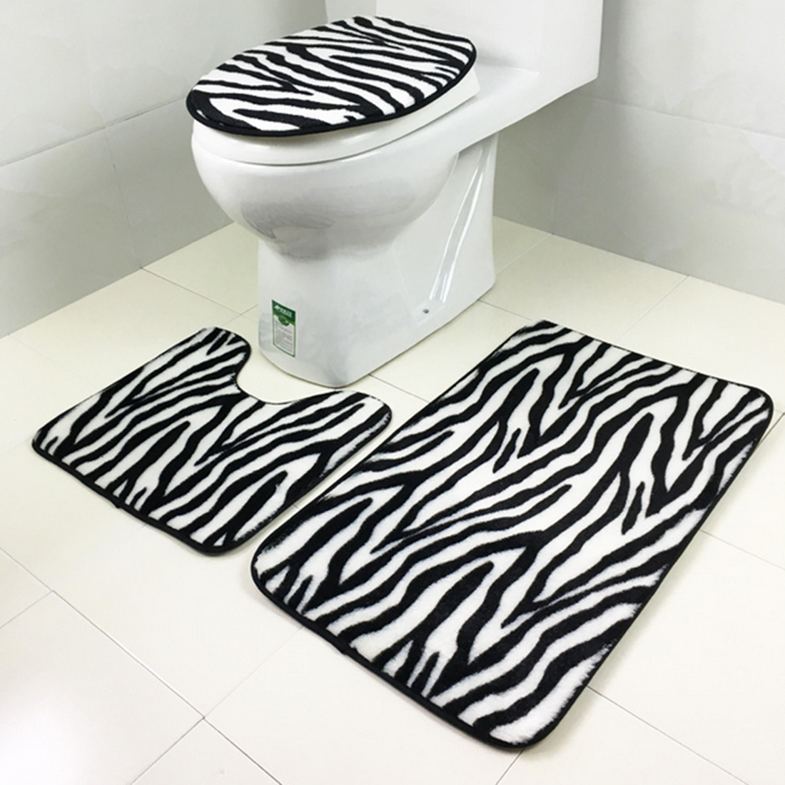 Striped Bathroom Accessories Sets Retail natural Bamboo and