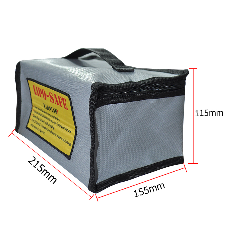 215x155x115mm Fireproof Rc LiPo Battery Portable Explosion-Proof Safety Bag Safe Guard Charge Sack free shipping 2017new arrival fireproof rc liposafety bagguard realacc fire retardant battery bag 215 150 110mm with handle
