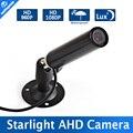 HD 1080 P Mini Cámara AHD 960 P 0.0001 iluminación de Bajo Consumo Con 6mm lente de Cámara de la Bala de Seguridad CCTV Impermeable Al Aire Libre de Trabajo para HD AHD DVR