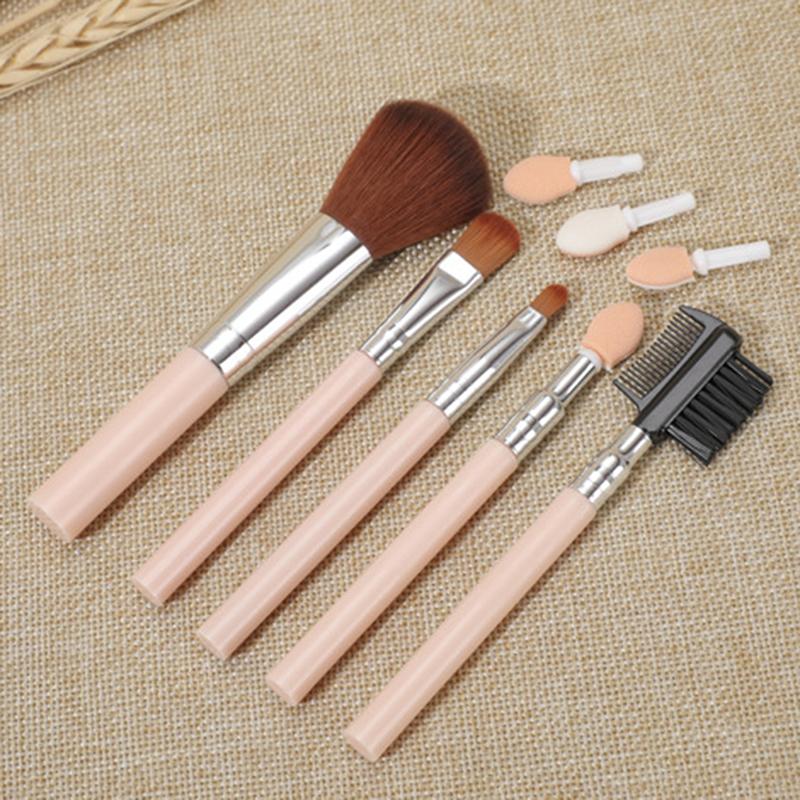5Pcs Makeup Brushes Set Travel Kit Eye Shadow Eyebrow Eyeliner Foundation Powder Lip Make Up Brush Cosmetic Beatuy