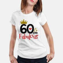 f380ffea6 2019 Summer Women T-shirt 60 FABULOUS Ladies 60th Birthday T-shirt 60 Years