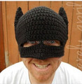 Novelty Handmade Winter Beanie Crochet Cool Batman Mask Knitted Hats Helmet EarFlap Mens Womens Winter Caps Party gorros gifts