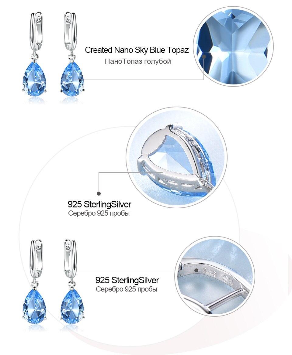 HTB14Zw7KrPpK1RjSZFFq6y5PpXae UMCHO Genuine 925 Sterling Silver Clip Earrings for Women Nano Blue Topaz Gemstone Engagement Wedding Anniversary Fine Jewelry