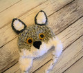 Crochet Gray Wolf Kids Hat - Animals hats - Accessories - Photography Photo Prop 100% cotton baby Halloween Costume 100% cotton