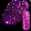 Ослепительный Фиолетовый Блесток Пыли Камень Блеск Ногтей Украшения Ногтей дизайн Акриловые УФ Mix Блеск Порошок 3D Nail Art Советы 279
