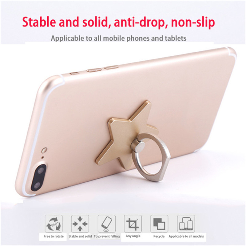 Phone Holder 360 Degree Rotatable Finger Ring Star-shaped Phone Bracket for Tablet PC for IOS/Android phones Digital Devices