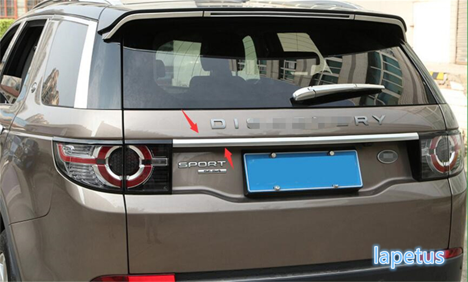 Lapetus Rear Door Tailgate Molding Lid Plate Frame Cover Trim Fit For Land Rover Discovery Sport 2015 2016 2017 2018 2019 / ABS|Chromium Styling| |  - title=