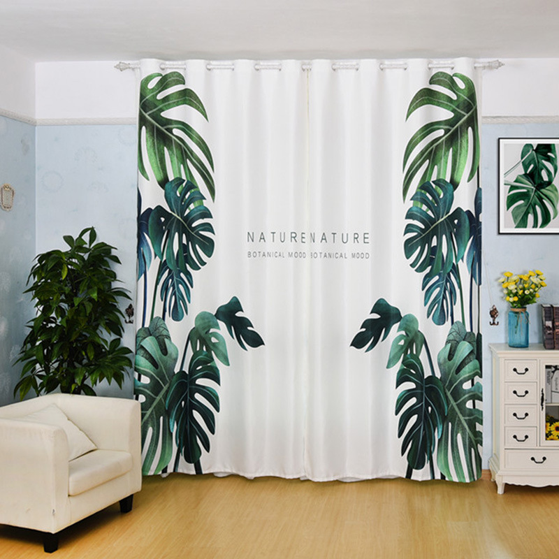 Simple Turtle Back Bamboo Half Shade Curtains for Living Dining Room Bedroom Personality Custom made Living