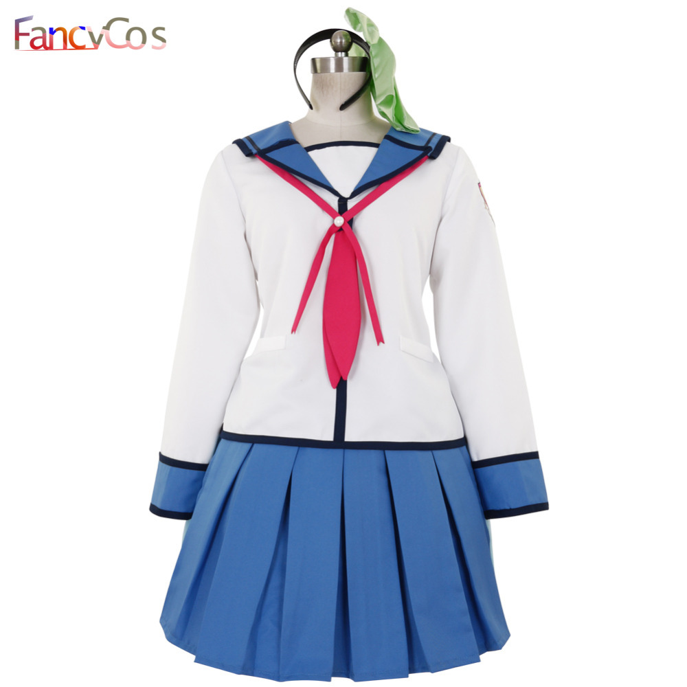 Halloween Women's Angel Beats!  Nakamura Yuri  Uniform Dress  Cosplay Costume High Quality Custom Made