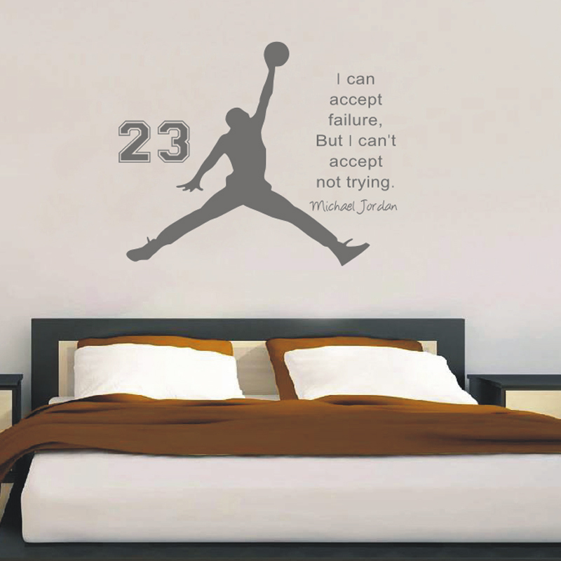 Inspirational Wall Sticker Quotes Basketball Vinyl Wall Decals Wall Mural  Art Kids Children Room Home Decor Wall Stickers In Wall Stickers From Home  ...