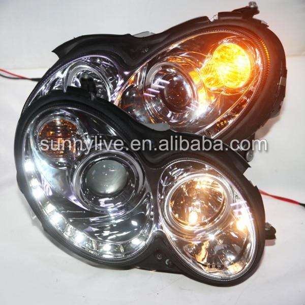 Phare LED 2004-2009 Chrome SN pour mercedes-benz CLK W209 voiture d'origine avec halogène