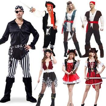 цена на Halloween Jack Sparrow Pirate Costume Adult Cosplay Fancy Dress Carnival captain pirates caribbean Cosplay Costume For Women Men
