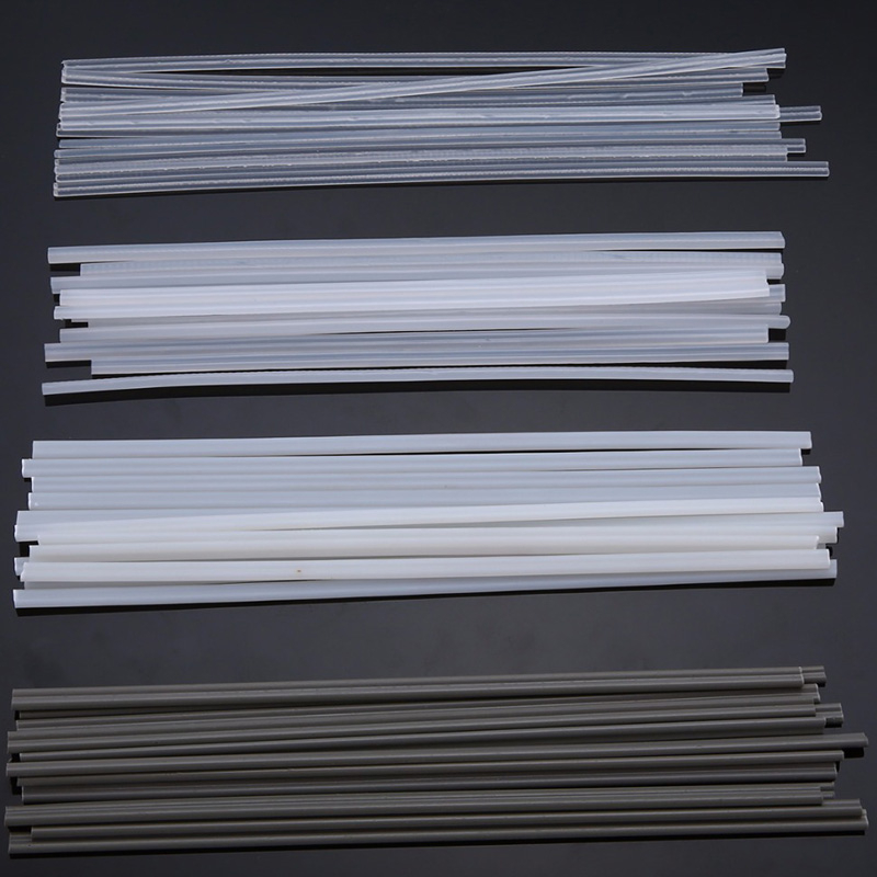 50pcs Non-toxic Plastic Welding Rods 200mm Length ABS/PP/PVC/PE Welding Sticks 2.5mm*200mm For Plastic Welder