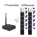 Professional In-ear Digital Wireless Stage audio Monitor System 2.4GHz  HDCD transmission audio 1Transmitter 10Receivers