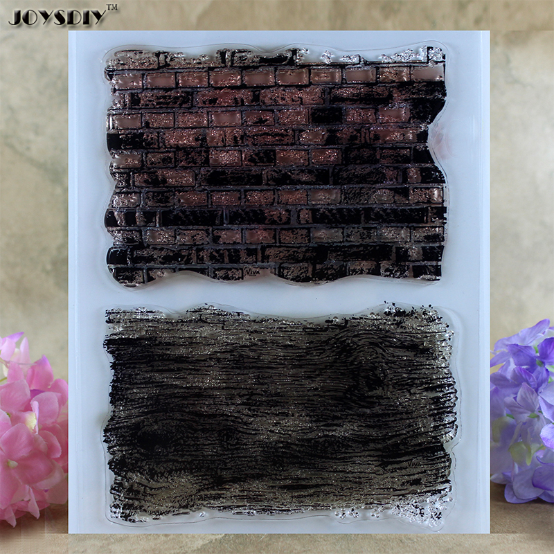 Wall Brick Background Scrapbook DIY photo cards account rubber stamp clear stamp transparent stamp card DIY stamp 14*18cm scrapbook diy photo cards account rubber stamp clear stamp finished transparent chapter wall decoration 15 18