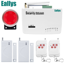 free shipping Intercom home security wireless GSM alarm system 2 year warranty 900/1800/1900MHZ with russian,english voice